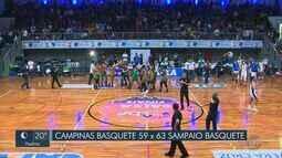 No primeiro jogo da final da Liga Feminina de Basquete, Campinas perde em casa
