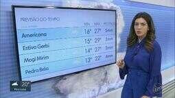 Confira a previsão do tempo para a região de Campinas nesta terça-feira (20)