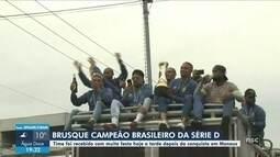 Brusque bate o Manaus e conquista o título da Série D; cidade celebra