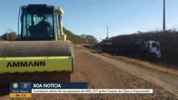 Após protestos, começam obras de recuperação da RSC-377 entre Capão Cipó e Tupanciretã