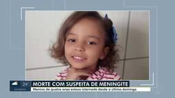 Corpo da menina que morreu com suspeita de meningite é velado em Montes Claros