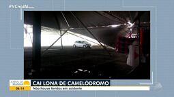 Lona de camelódromo desaba em Bom Jesus da Lapa