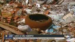 Terreno no Jardim Treviso em Pirassununga acumula lixo e preocupa moradores