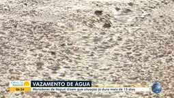 Moradores de Itapuã reclamam de vazamento de água