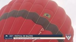 Festival Internacional de Balonismo é promovido em Guarujá, SP