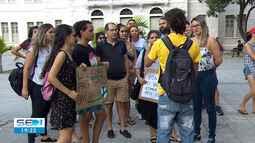 Manifestantes protestam em Aracaju em defesa da Amazônia