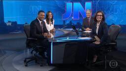 Cristina Ranzolin e Márcio Bomfim são apresentados no Jornal Nacional