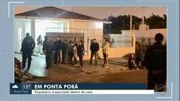 Homem é executado dentro de casa em Ponta Porã