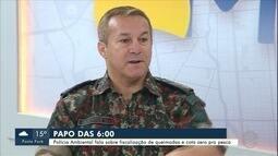 Polícia Militar Ambiental de MS fala, no Papo das 6, sobre a situação das queimadas