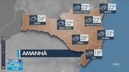 Veja como ficará o tempo em todas as regiões de SC nesta terça-feira (16)