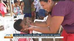 Moradores da Vila dos Oleiros, em Cantá, recebem serviços gratuitos de saúde