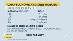 Agências da Caixa Econômica estendem horário de atendimento