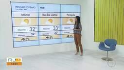 Confira a previsão do tempo para as cidades do interior do Rio