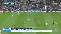 Bahia e Corinthians se enfrentam neste sábado (21); veja imagens da partida