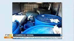 Duas pessoas são presas em Independência por comercialização ilegal de combustível