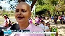 Conscientização sobre o câncer de mama é realizada em Montes Claros