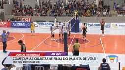 São José Vôlei e Sesi-SP iniciam confrontos de quartas de final do Campeonato Paulista