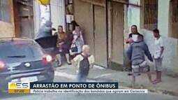 Criminosos fazem arrastão em ponto de ônibus de Cariacica
