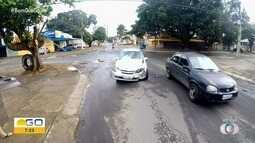 Acidente envolve dois carros em Goiânia