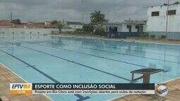 Rio Claro está com inscrições abertas para aulas de natação inclusiva