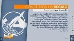 Concursos públicos abrem inscrições na região de Presidente Prudente