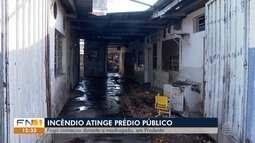 Incêndio atinge prédio público em Presidente Prudente