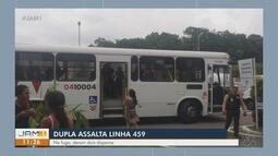 Dupla assalta linha de ônibus 459 em Manaus