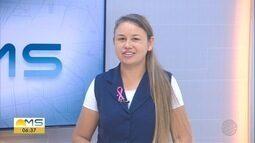 Marcinha, do Bom Dia MS, manda abraço aos professores