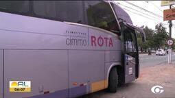 Ônibus interestadual é assaltado na AL-101 Sul