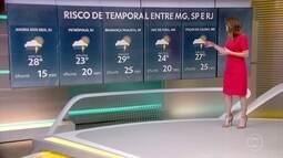 Temporais se espalham pelo Sudeste, Centro-Oeste e Sul do Brasil