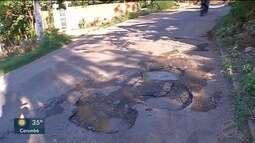 Moradores reclamam de buracos nas vias de Corumbá