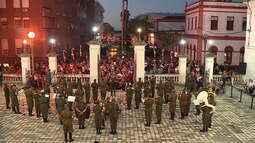 Tocata de Natal, concerto realizado pela banda do Exército, reúne famílias nos Andradas