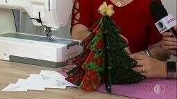 Aprenda a fazer árvore de Natal de tecido