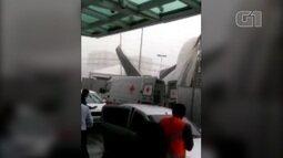 Desabamento de estrutura de show infantil causa tumulto em shopping de Belém