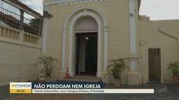 Ladrões furtam a Igreja Santo Antôninho Pão dos Pobres em Ribeirão Preto