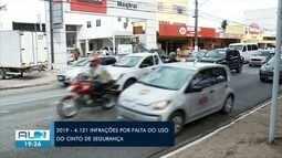 Mais de 3 mil multas por falta do uso do cinto de segurança foram aplicadas em Maceió