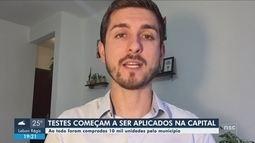 Florianópolis começa a aplicar testes rápidos para diagnosticar coronavírus