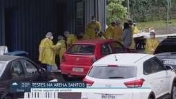 Exames de Covid-19 na Arena Santos continuam até quinta-feira