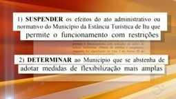 Juíza determina que prefeitura suspenda decreto municipal de flexibilização em Itu