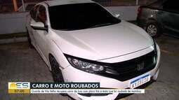 Guarda Municipal de Vila Velha, no ES, recuperam carro e moto roubados