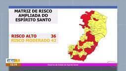 Cresce a lista de municípios do ES com risco alto da Covid-19