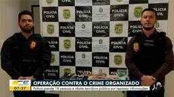 18 pessoas são presas em operação contra o crime organizado