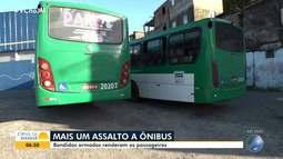 Passageiros de dois ônibus são assaltados em Salvador, na manhã desta quarta-feira