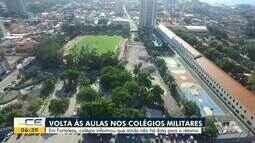 Colégio Militar de Fortaleza não confirma data de retorno das aulas presenciais