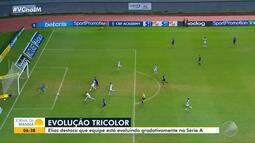 Futebol: Meia Elias comenta mudanças e evoluções no Bahia após a chegada de Mano Menezes
