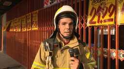 Princípio de incêndio atinge comércio na Rua Antônio da Rocha Viana, em Rio Branco