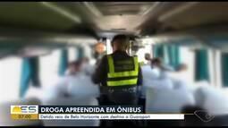 Homem é preso ao levar cocaína em ônibus de Belo Horizonte para Guarapari, ES