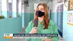Em Fortaleza, aulas na Rede Municipal começam amanhã (27)