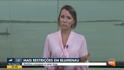 Blumenau decreta novas medidas restritivas contra a Covid-19