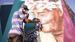 Grafiteiro Korea transforma tradições folclóricas sergipanas em grafite